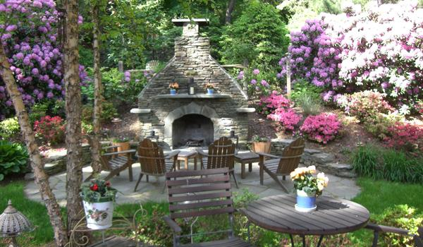 Bergen County Outdoor Fireplace