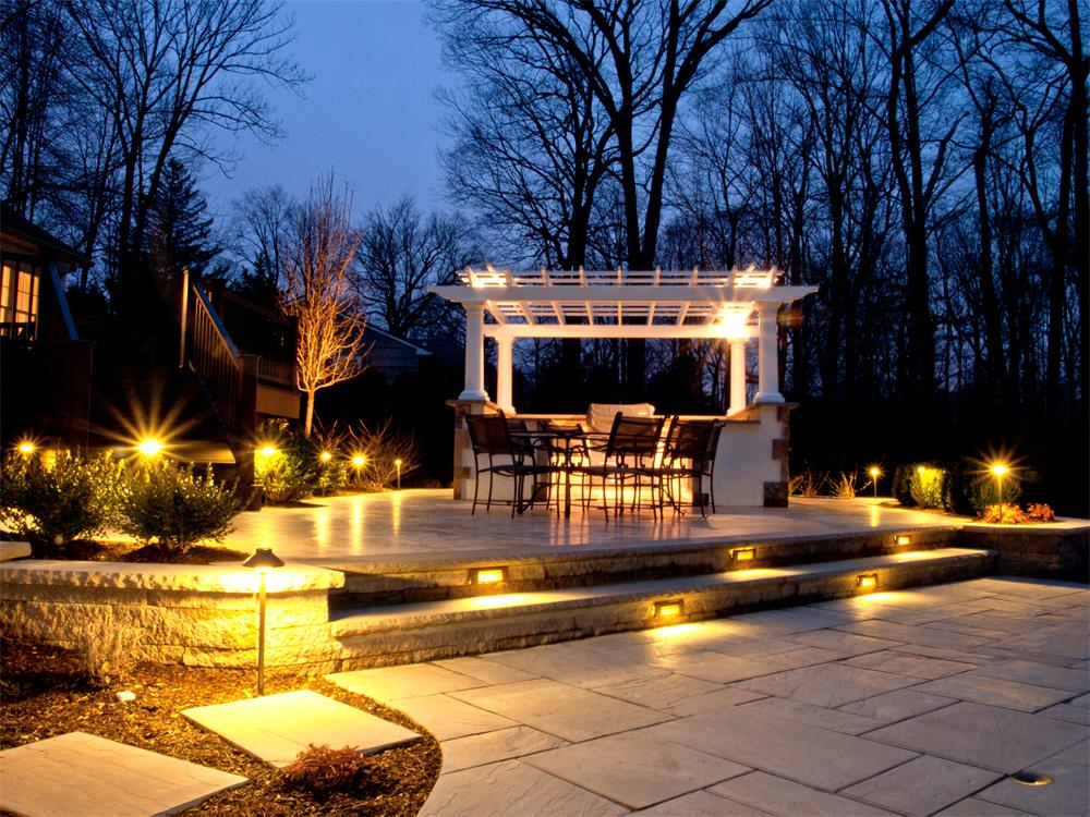 outdoor landscaping lighting. related to landscape lighting ... - Outdoor Lighting Patio Ideas