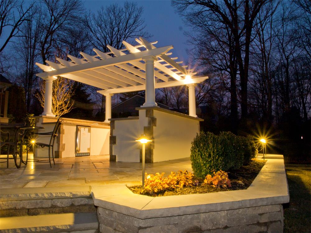 Outdoor landscape lighting bergen county nj for Exterior lighting design