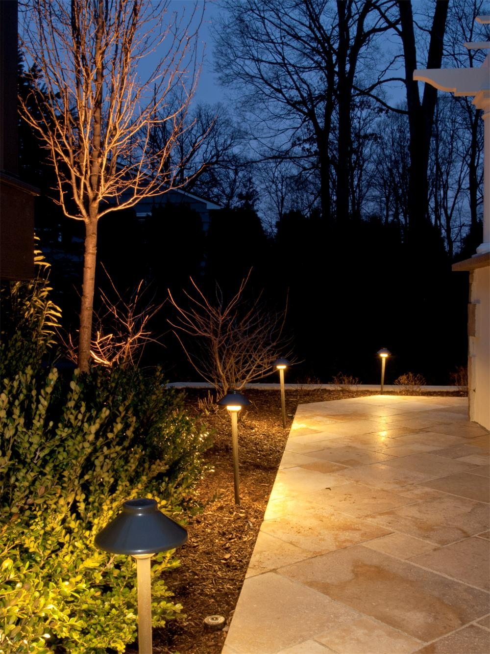 Landscape Lighitng of Walkway in Bergen County, NJ