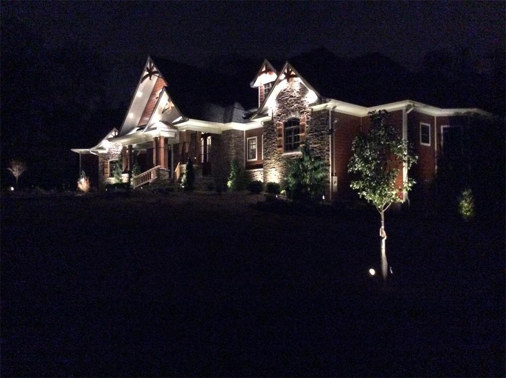 Beautiful outdoor landscape lighting