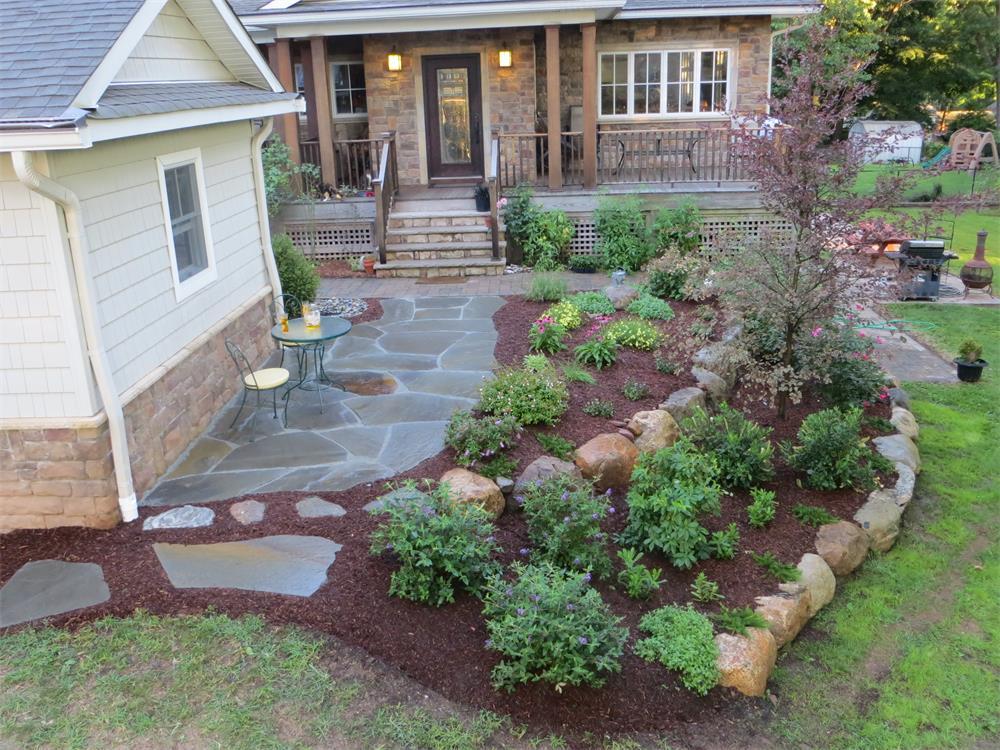 Backyard landscaping in Bergen County