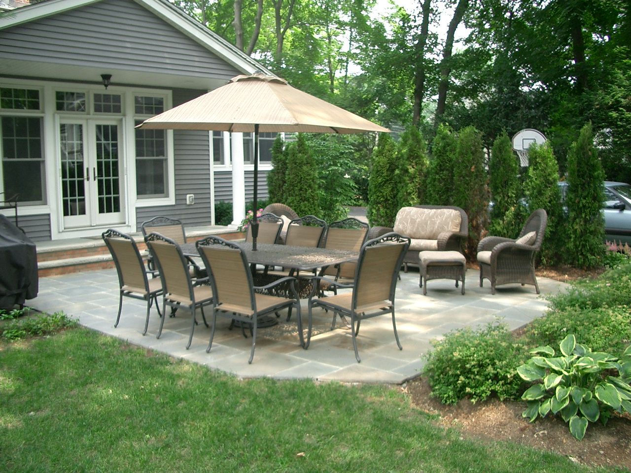 Bergen County Patio Design With Back Yard Patio Designs