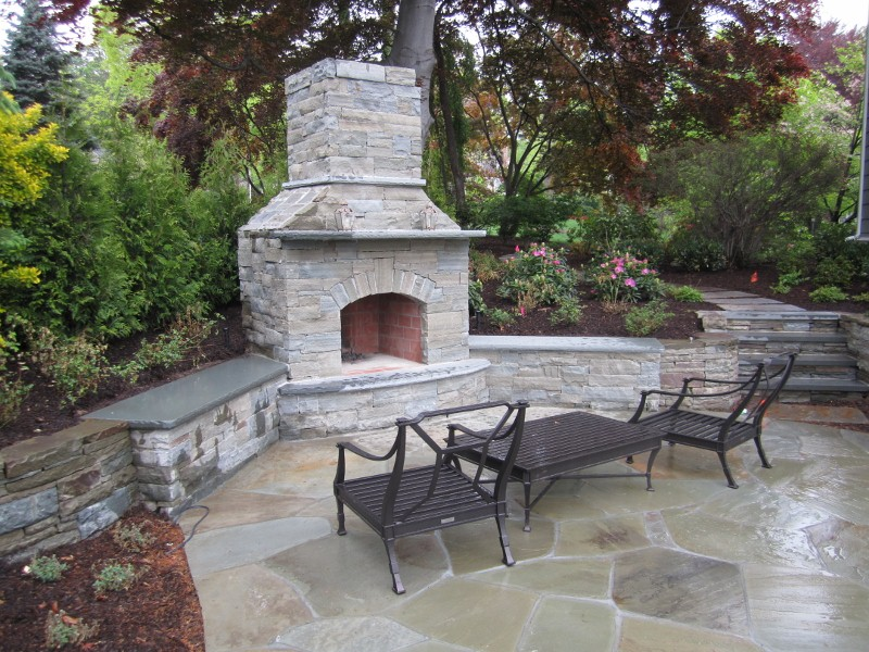 Bergen County Outdoor Fireplace. Landscaper In New Jersey. Landscaper In  New Jersey