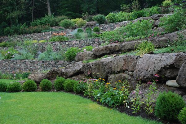 Bergen County Landscape Stone Terrace