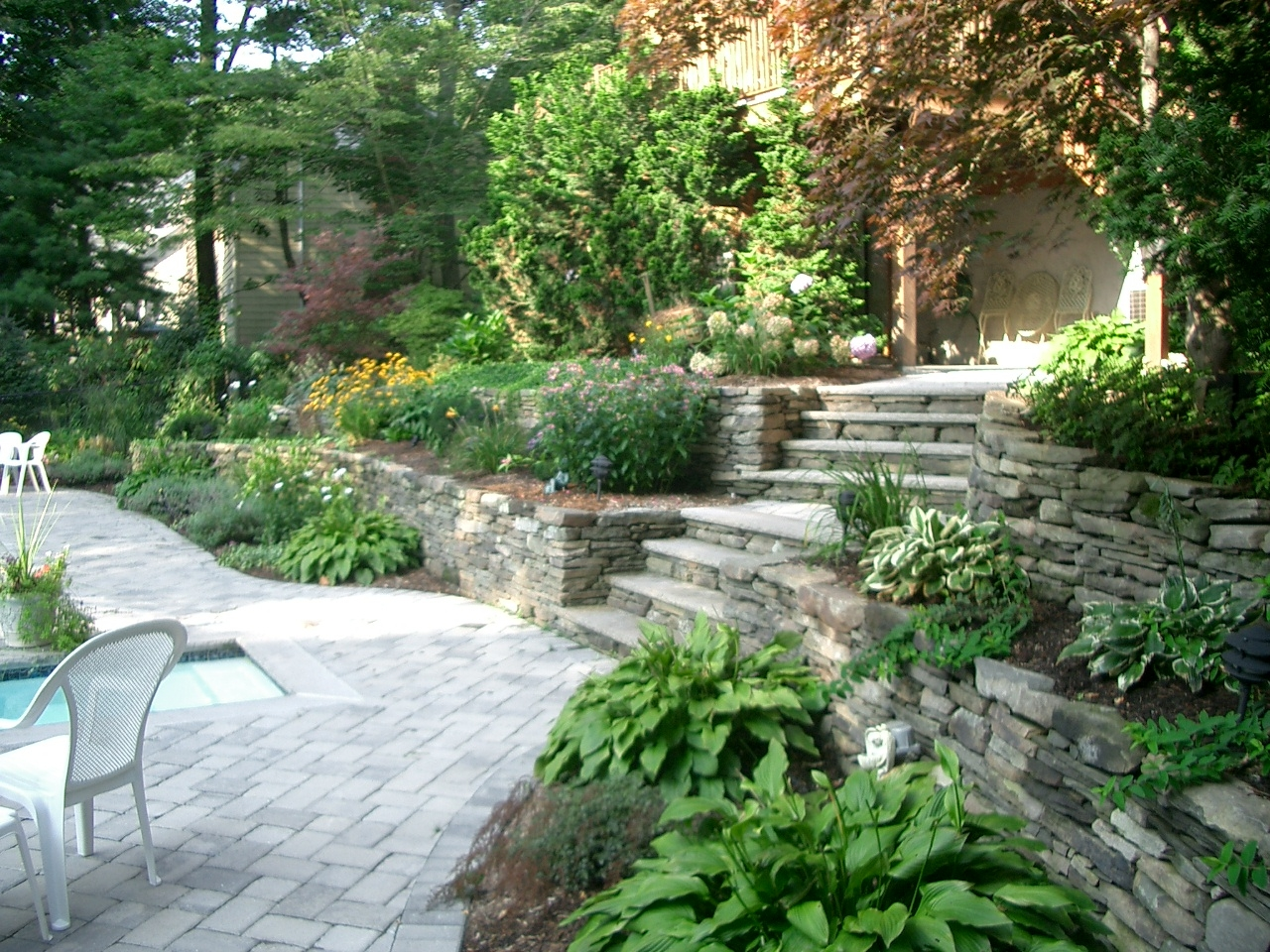 Bergen County Landscape Steps, Retaining Wall